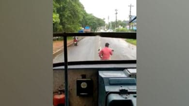 Photo of Kannur: Bike rider fined for obstructing KSRTC bus