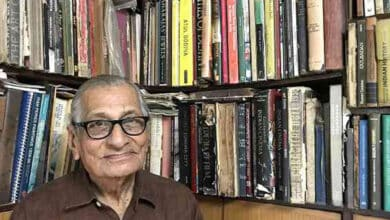 Photo of 85-year-old movie buff narrates story of India's silent-film era