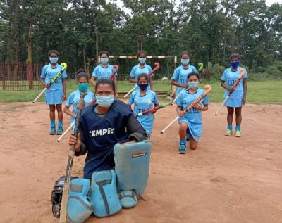 Chhattisgarh tribal girls train hard on helipad, eye hockey fame
