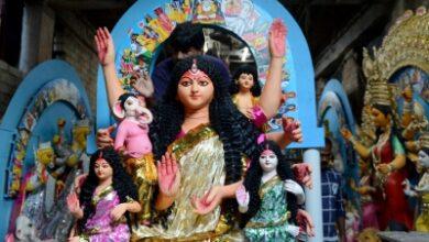 Photo of Corona is the new Mahishasura in Delhi's subdued Durga Puja
