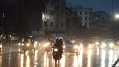 Photo of Normal life was thrown out of gear in Hyderabad due to rains