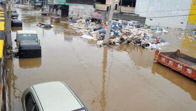 Photo of Bandlaguda streets flooded after heavy rains