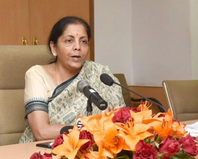 Economic growth in FY21 may be negative: Sitharaman