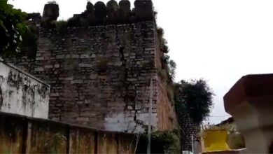 Photo of Telangana's historic Shahpur fort collapses