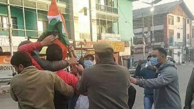 Photo of J-K police detain BJP workers trying to hoist national flag at clock tower