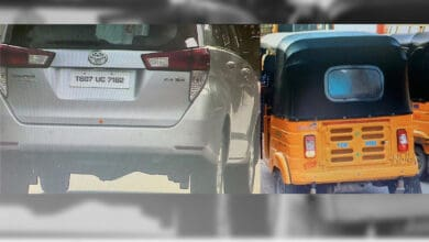 Photo of Man held for using fake number plate on car in Hyderabad