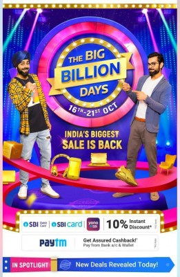 Flipkart, Paytm offer instant caskback during 'Big Billion Days'