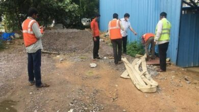 Photo of GHMC fines building Rs 1 lakh for pumping cellar water on road