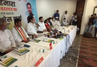 Grand Alliance releases Bihar poll manifesto, pledges change (Ld)