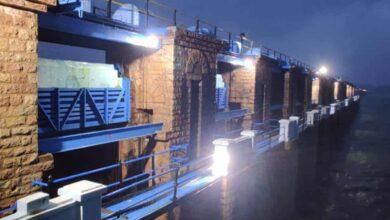 Photo of Himayath Sagar gates opened again amid heavy rains
