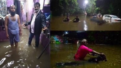 Photo of Watch: Rains lash Hyderabad; Normal life thrown out of gear