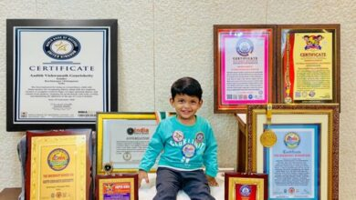 Photo of Hyderabad toddler bags international, national records for memory skills