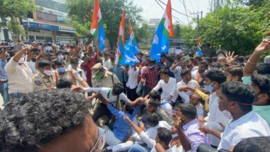 Photo of Tension at JNTU as police foil NSUI protest for exam cancellation