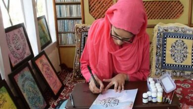 Photo of Budding Calligrapher from Kashmir carries forward father's legacy