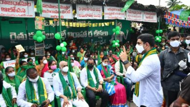 Photo of Amaravati protests complete 300 days; Lokesh extends solidarity