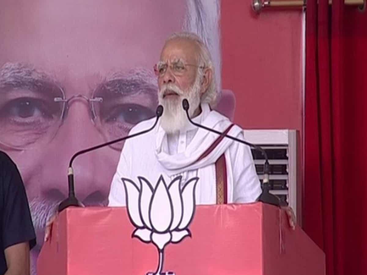 PM Narendra Modi inaugurates 'Arogya Van' in Narmada