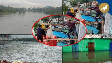 Photo of TS: Rivers Musi, Kagna flowing in extreme flood situation