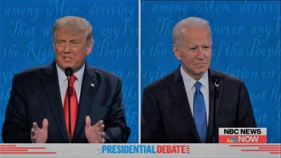 Mute button, masks headline final Trump, Biden debate (Ld)