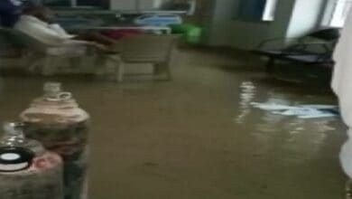Photo of COVID-19 ward flooded in Ambikapur Medical College due to heavy rains