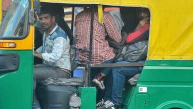 Photo of Hyderabad auto drivers forget COVID-19 norms