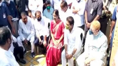 Photo of T.S rains: Owaisi, KTR inspect Appa pond at Gaganpahad