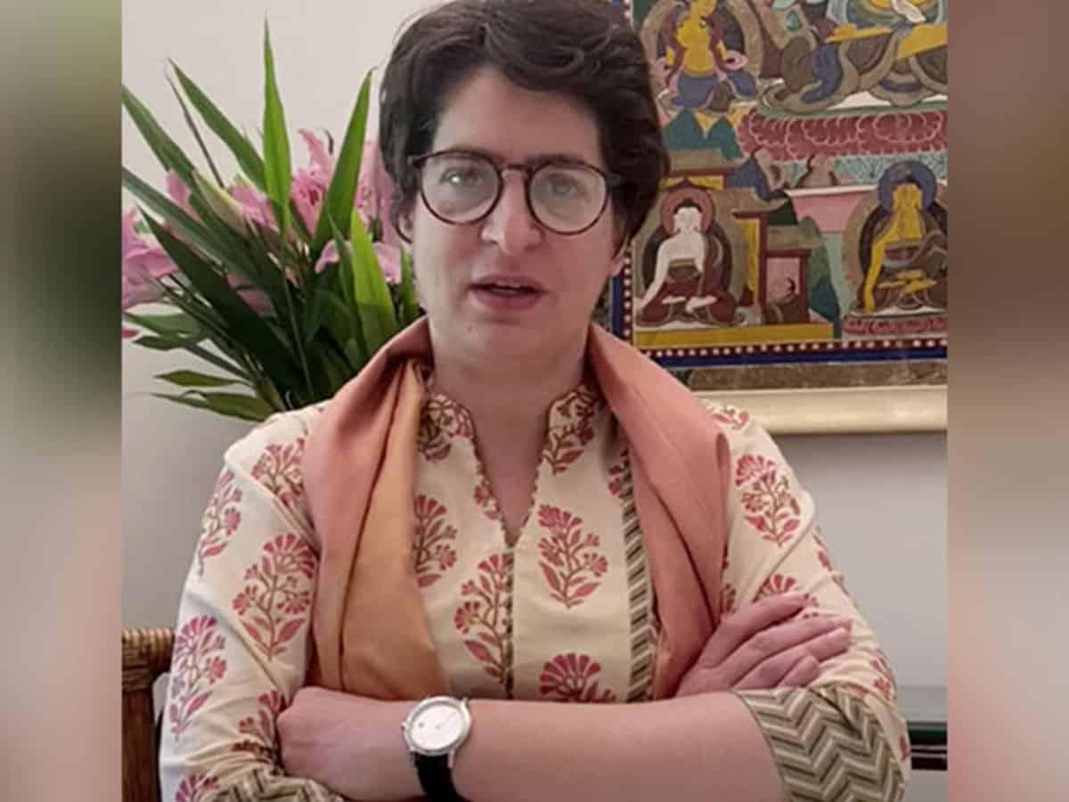 Yogi doesn't have time for crime against women: Priyanka Gandhi