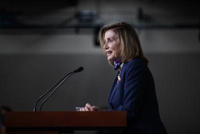 Pelosi hopes stock market selloff to reach Covid-19 relief deal