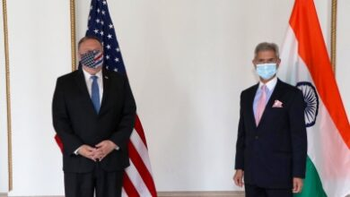 Photo of Pompeo arrives in Delhi, follows up on Quad with Jaishankar