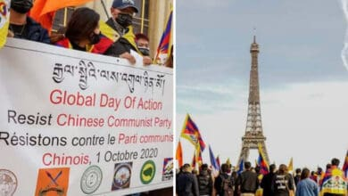 Photo of Paris: People protest against human rights violation in China