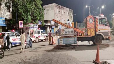 Photo of Hyderabad: Bridge beside Puranapul blocked for Traffic