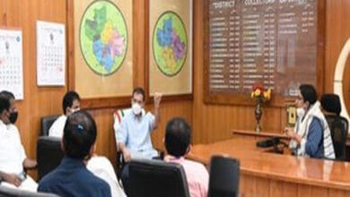 Photo of Rahul Gandhi attends COVID-19 review meeting at Wayanad Collectorate