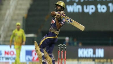 Photo of IPL 2020: Rahul Tripathi guides KKR to 167 runs against CSK