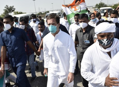 Rahul led Cong team to visit Hathras on Saturday again