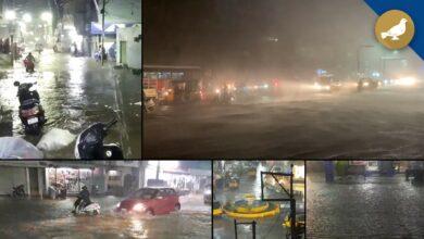 Photo of Heavy rain lashes Hyderabad on Friday