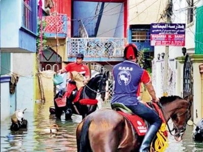 Riders on the storm: Horse riders as saviours for flood-hit Hyderabadis