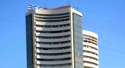 Sensex in red amid volatility on global cues