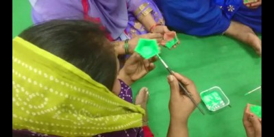 Sex workers of GB Road being trained to make earthen lamps