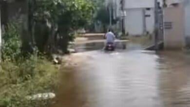 Photo of Hyderabad: Rainwater makes life miserable for Shaheen Nagar residents