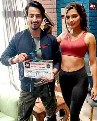 Social media star Mr. Faisu and Ruhi Singh shoot for web series