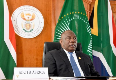 South African president unveils economic recovery plan