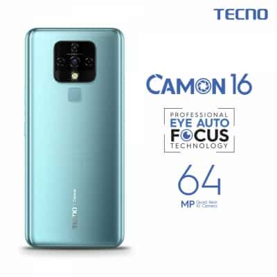 TECNO CAMON 16 with 64MP quad cam, Eye AF tech to launch on Oct 10