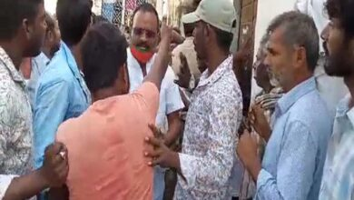 Photo of Hayat Nagar TRS corporator heckled by public