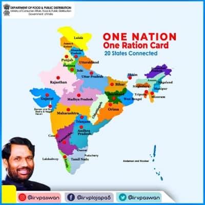 Tamil Nadu, Arunachal join One Nation One Ration Card scheme