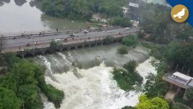 Photo of Hussainsagar reaches full tank level after heavy rains