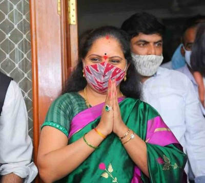 Telangana CM congratulates daughter Kavitha on poll victory