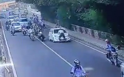 Traffic cop dragged on car bonnet, student held for attempt to murder