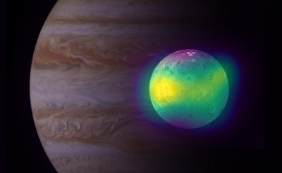 Volcanic activity effect spotted on Jupiter's moon Io