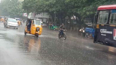 Photo of Heavy rains in Hyderabad on Monday