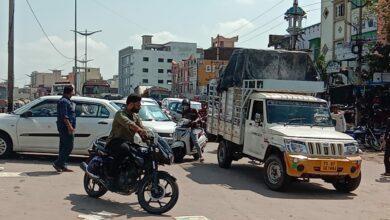 Photo of Bandlaguda main road shut due to floods, traffic diverted