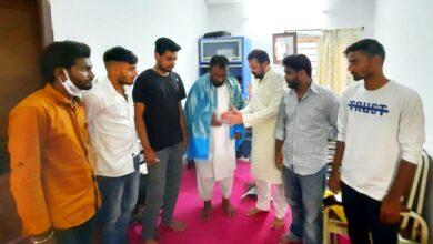 Photo of Team NGOs Chairman Ilyas Shamsi felicitated